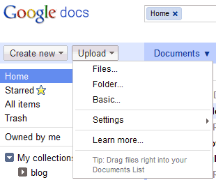 More Ways to Upload Files and Folders to Google Docs