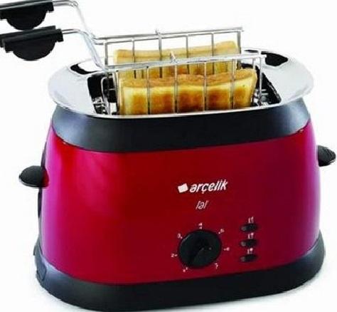 Ince tost ekmekleri için hazır makinelerde bulunuyor kırmızı