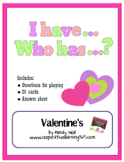 , I Have…Who Has.. Valentine's