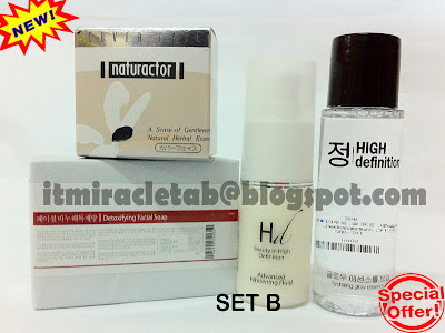 HD ADVANCED WHITENING FLUID + TAB SOAP + HD GLOW ESSENCE + MEIKO NATURACTOR
