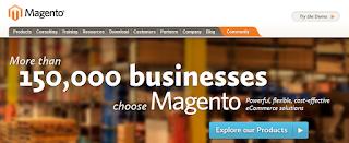 Captura de imagen de la página web de magento: www.magentocommerce.com/