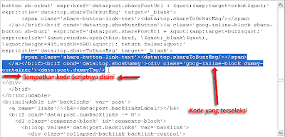 Cara Memasang Google Plus Button (G+) Pada Blogspot