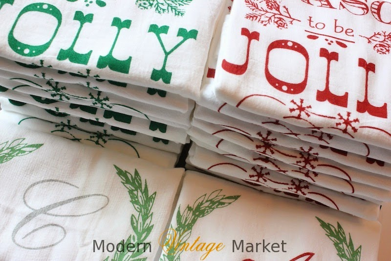 Christmas towels collage