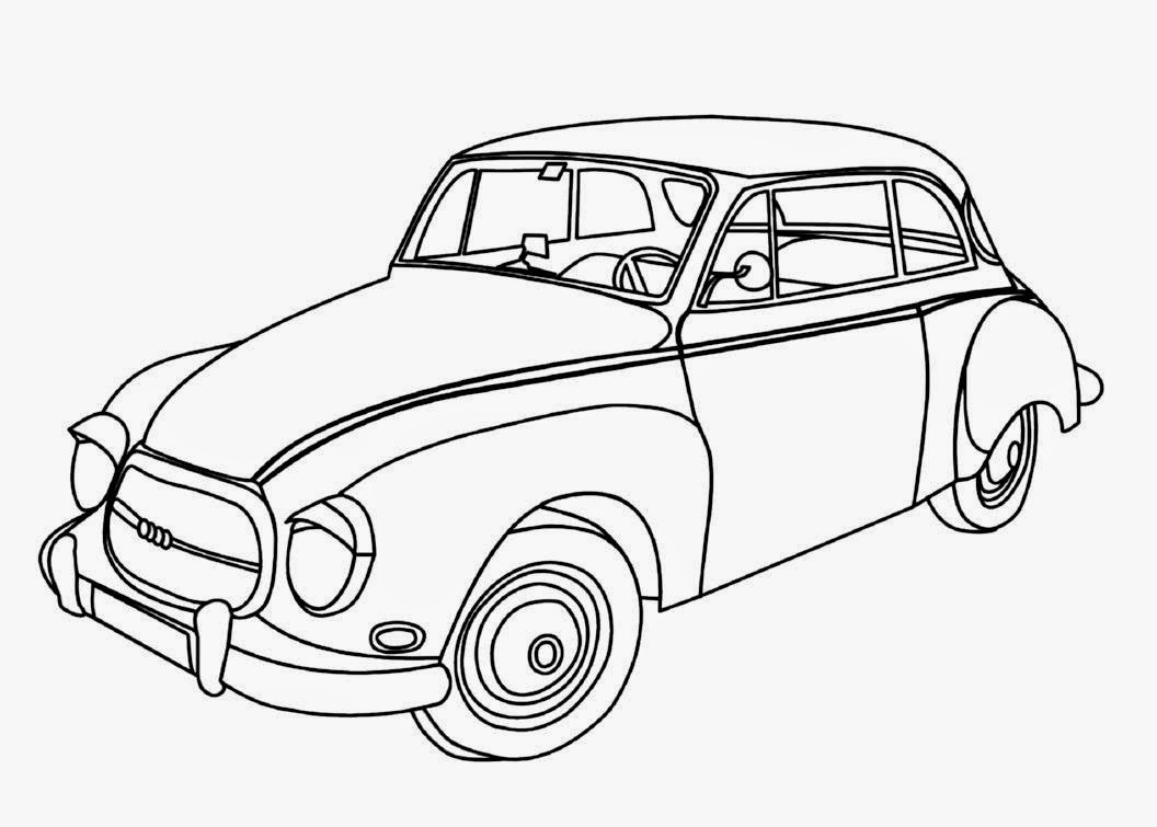 Coloring in the car - Car Coloring Drawing Free Wallpaper