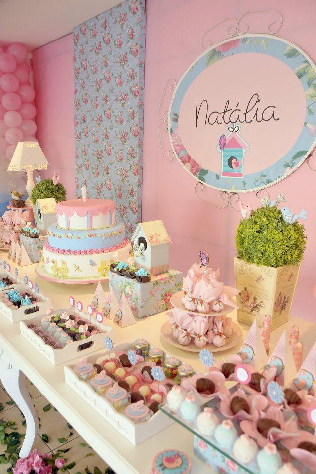 ideias para tema jardim:Meninas do Papel: Aniversário Natália – Tema: Jardim