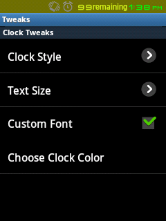 Clock Customization Tweaks