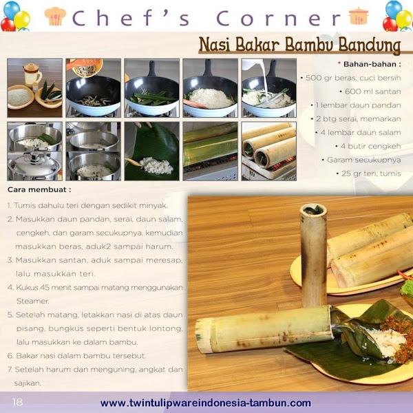 Chef's Corner : Resep Nasi Bakar Bambu Bandung Sambal Leunca