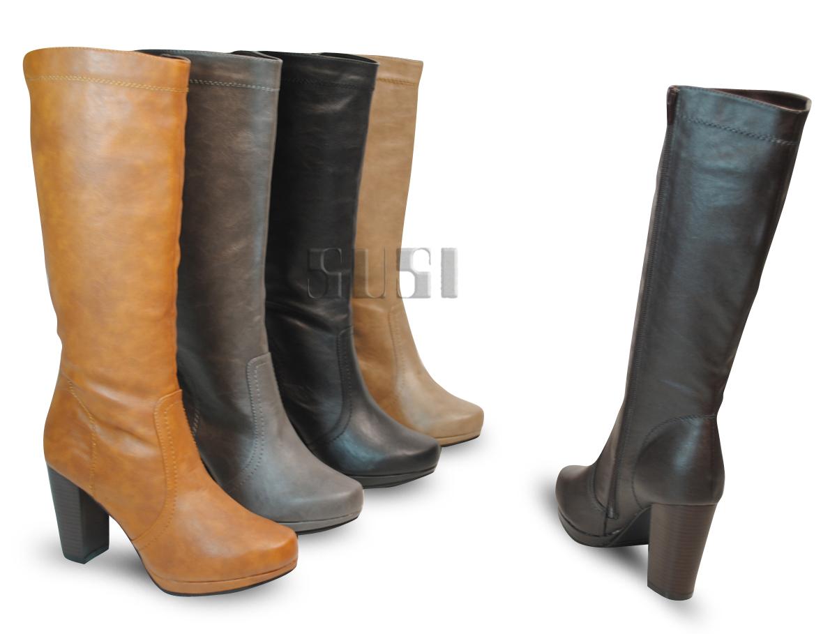 zwarte laarzen met platte hak