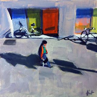Sidewalk Below by Liza Hirst