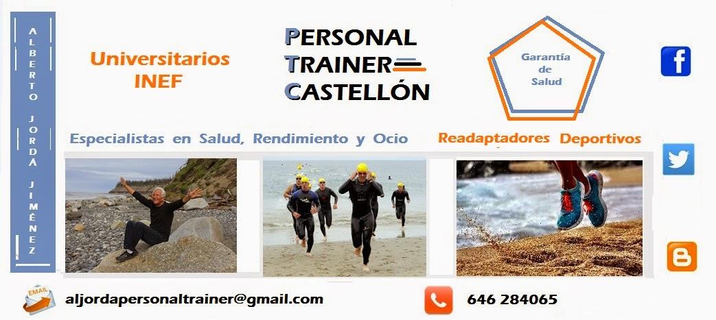 PERSONAL TRAINER CASTELLON. Alberto Jordá, Licenciado en Inef. Recuperación de lesiones.