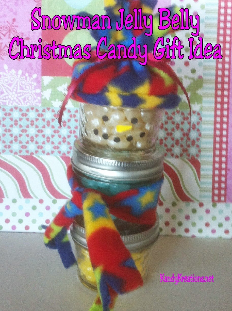 Give your friends a sweet Christmas gift with this Jelly Belly Snowman.  He is a great candy gift idea for everyone who loves Christmas candy or Jelly Belly candies.  You can craft him in a few moments and have a great gift idea for everyone on your list.