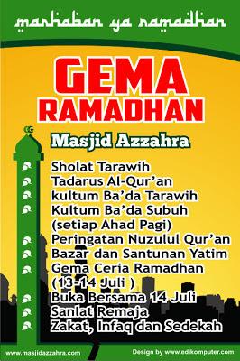 Desain Backdrop Acara Ramadhan format coreldraw