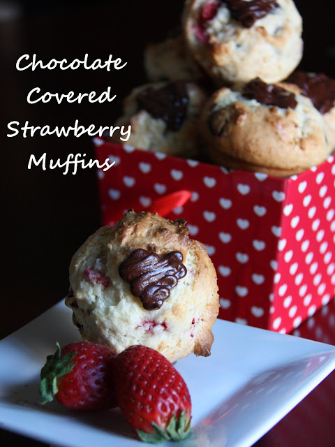 Valentines Day Treat Chocolate Strawberry Muffin