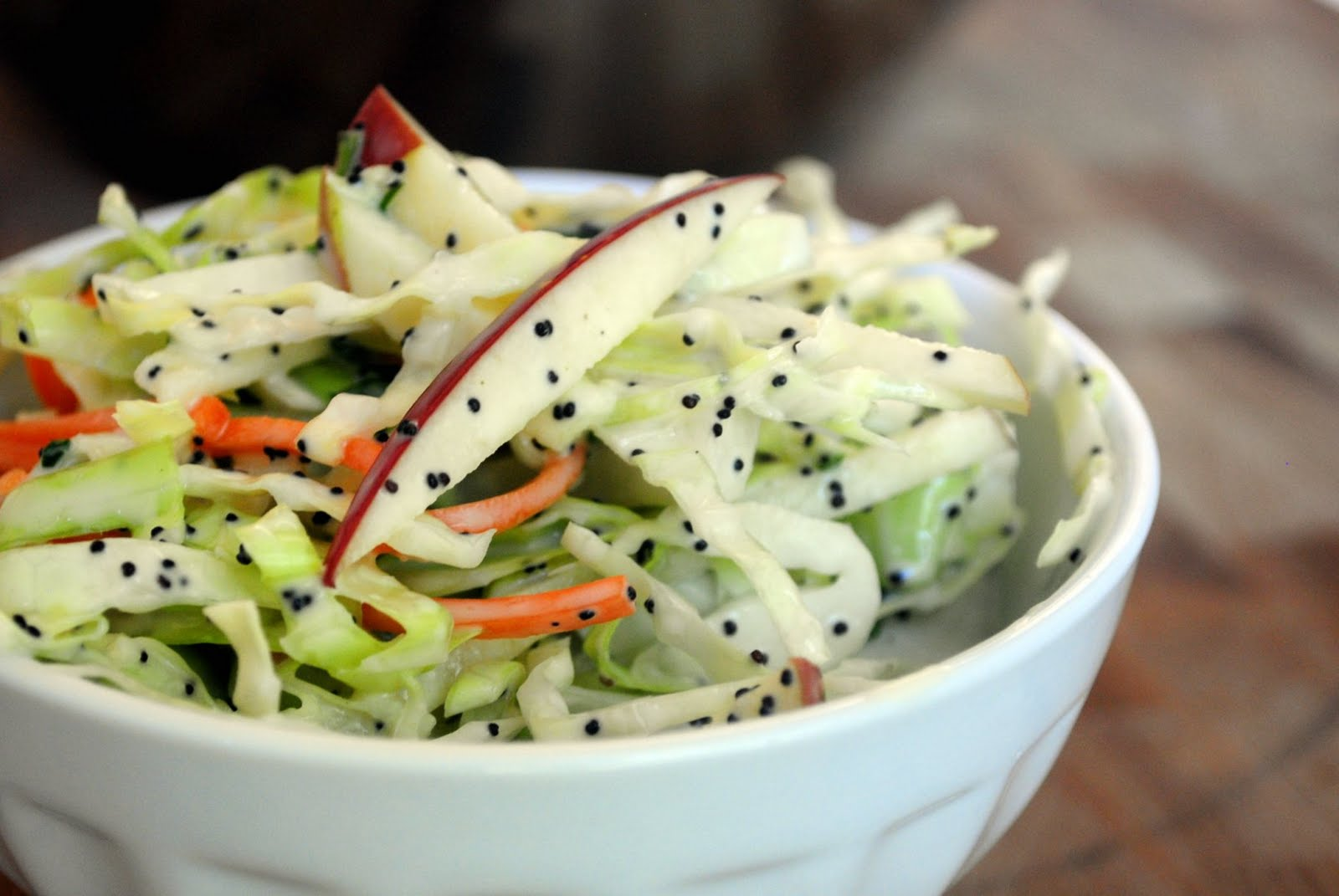 Kale-Apple Coleslaw With Poppy Seed Dressing Recipe — Dishmaps