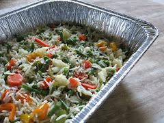 Light Vegetable Pulao for Potluck.