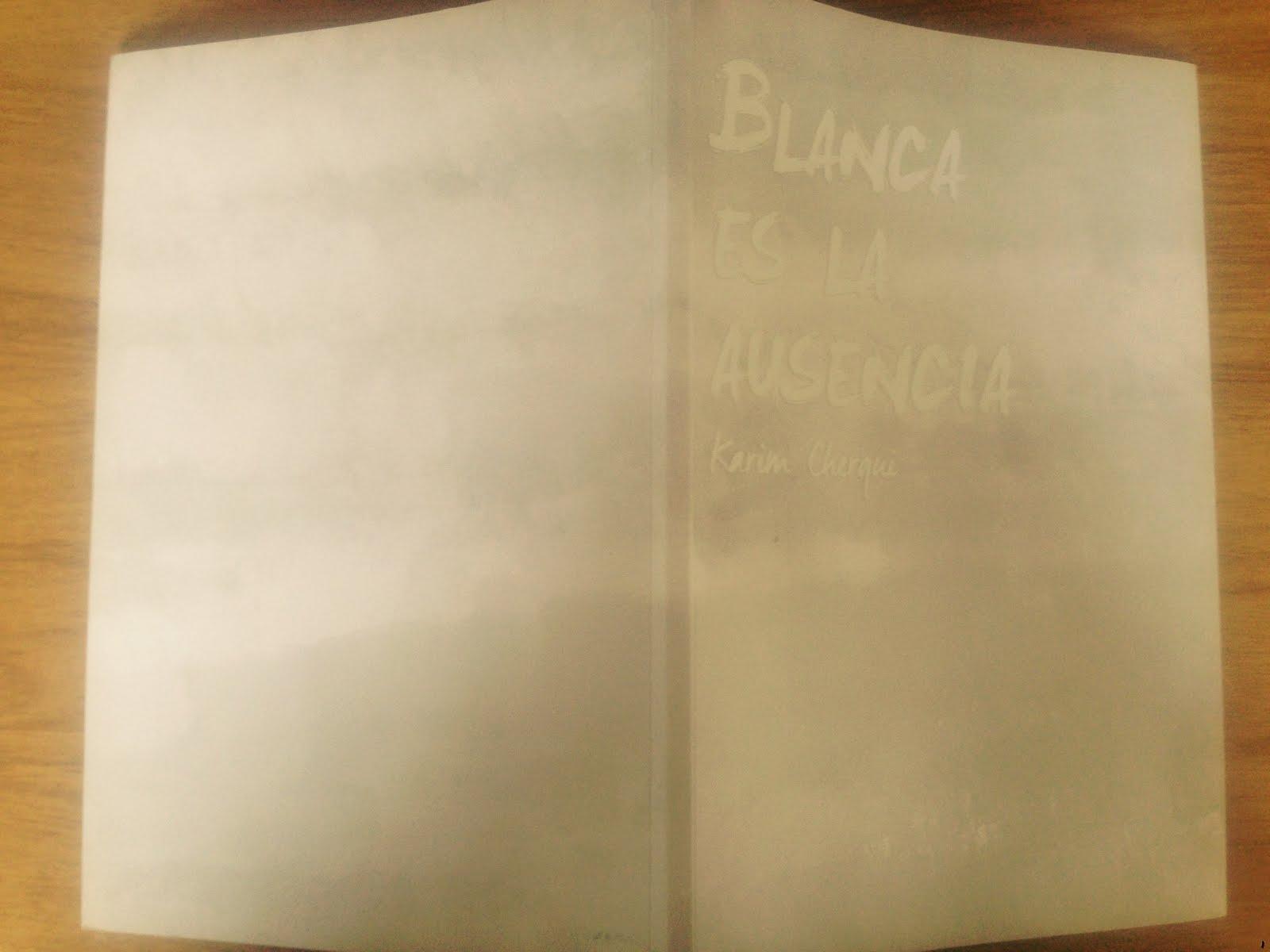 Mi tercer poemario: Blanca es la ausencia