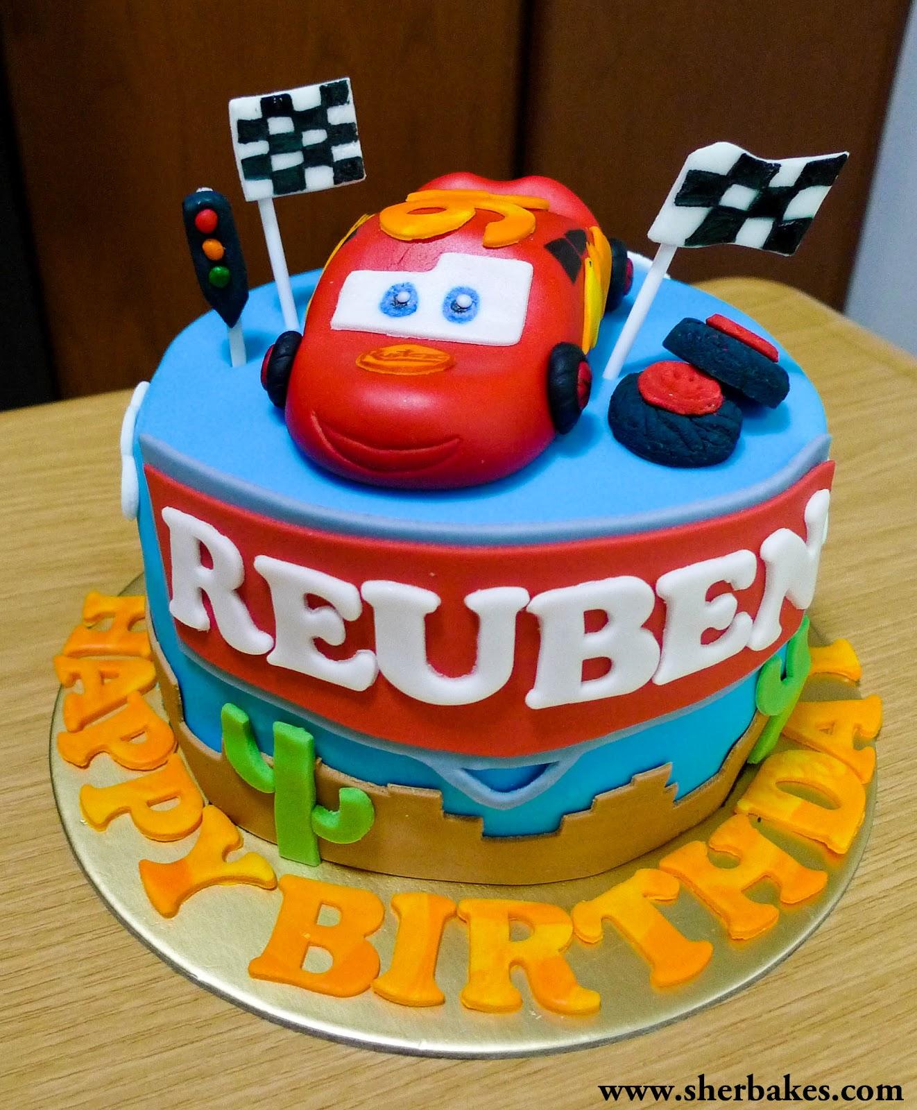 Sherbakes Lightning Mc Queen Cars cake