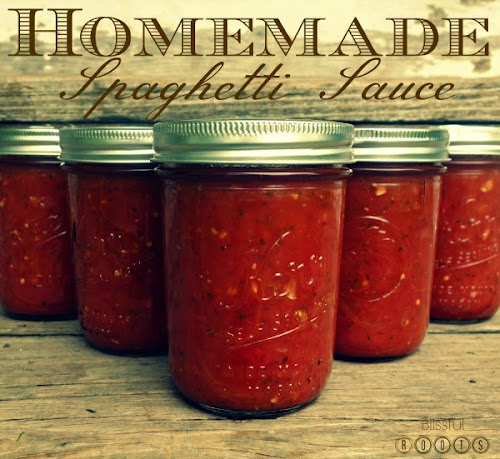 Canning Your Own Spaghetti Sauce from Blissful Roots