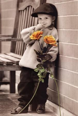 imágenes románticas con flores