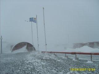 La dureza de la meteorología antártica