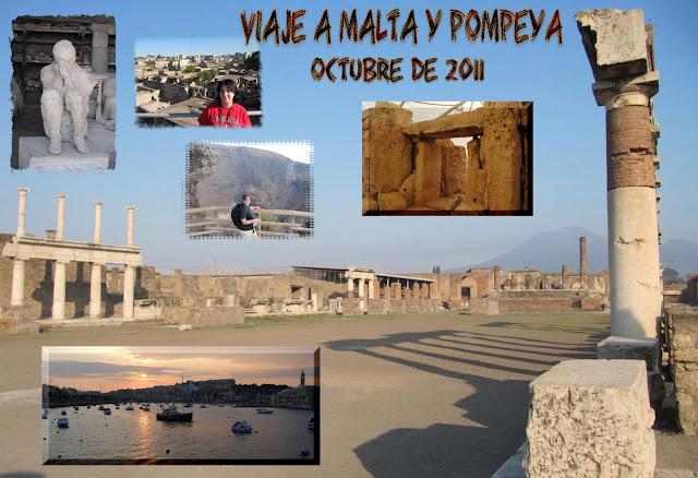 Viaje a Malta y Pompeya en octubre de 2011