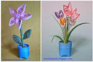 bunga unik dari sisa potongan kertas