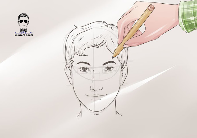كيفية رسم وجه ولد بالرصاص للمبتدئين