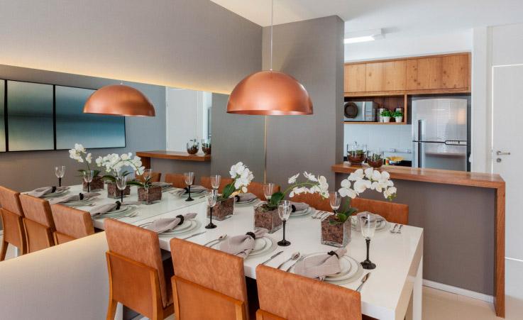 Sala De Jantar Sofisticada ~  Decoração de Salas de Jantar com Pendentes Cobre! Super Tendência