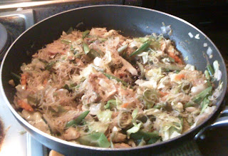 Cooking Left-over Pansit