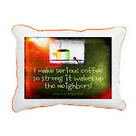 Funny Coffee Quote Rectangular Canvas Pillow