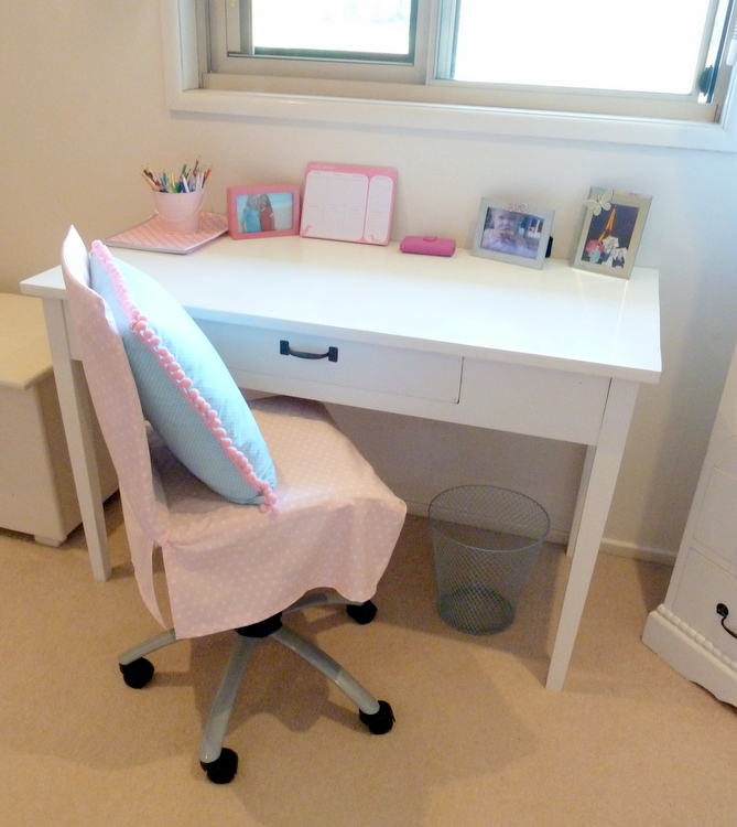Stylish Settings: How to Make a Chair Cover for a Shabby Old Desk
