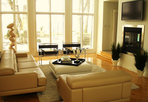 Home office designs living room decorating ideas Modern living room interior design 2012