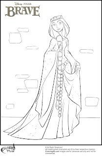 disney brave queen elinor coloring pages