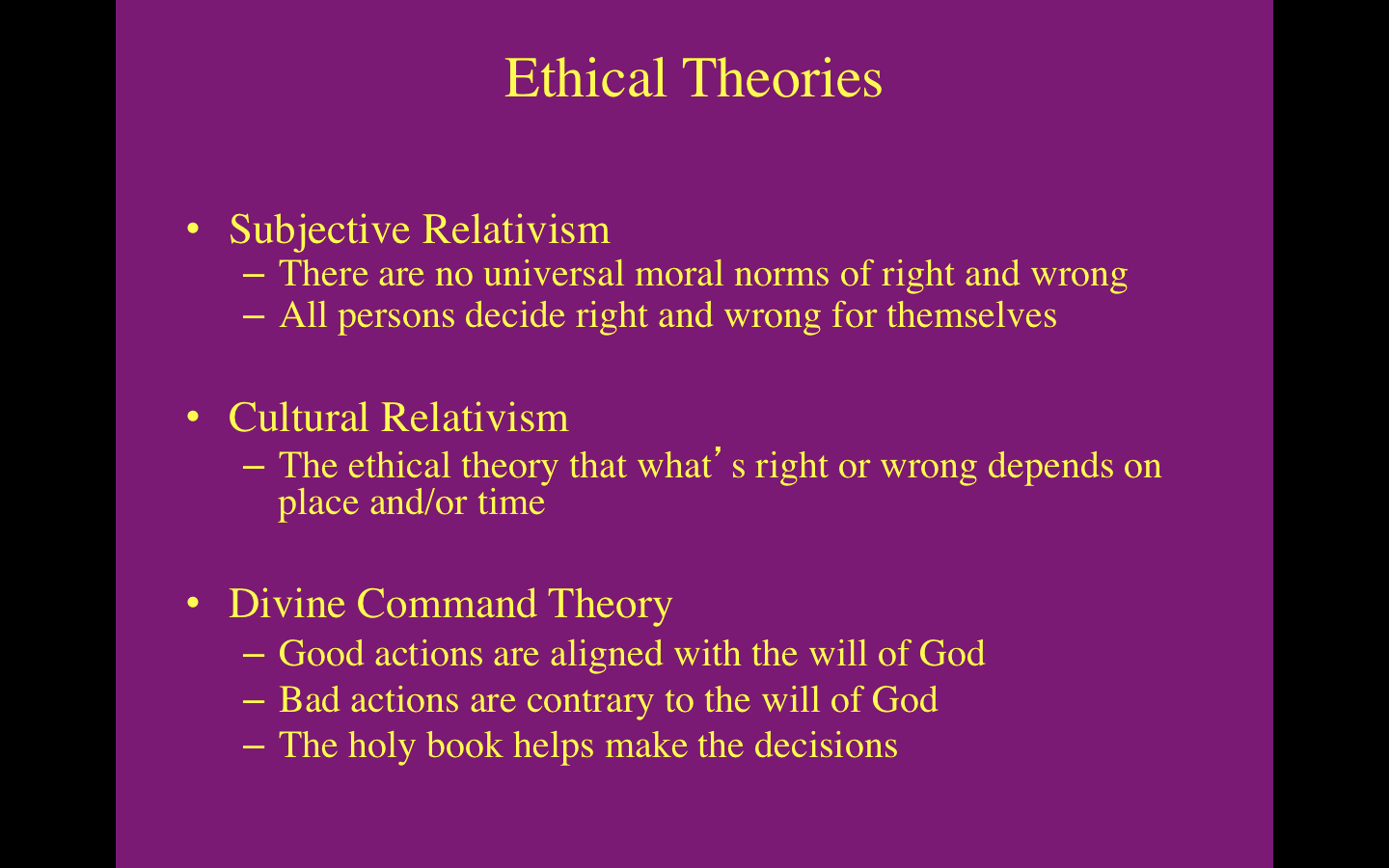 divine command vs ethical egoism Ethics the field of ethics sometimes called voluntarism (or divine command theory)  which is a type of rule-ethical-egoism.