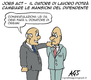 jobs act, decreti attuativi, mansioni satira vignetta
