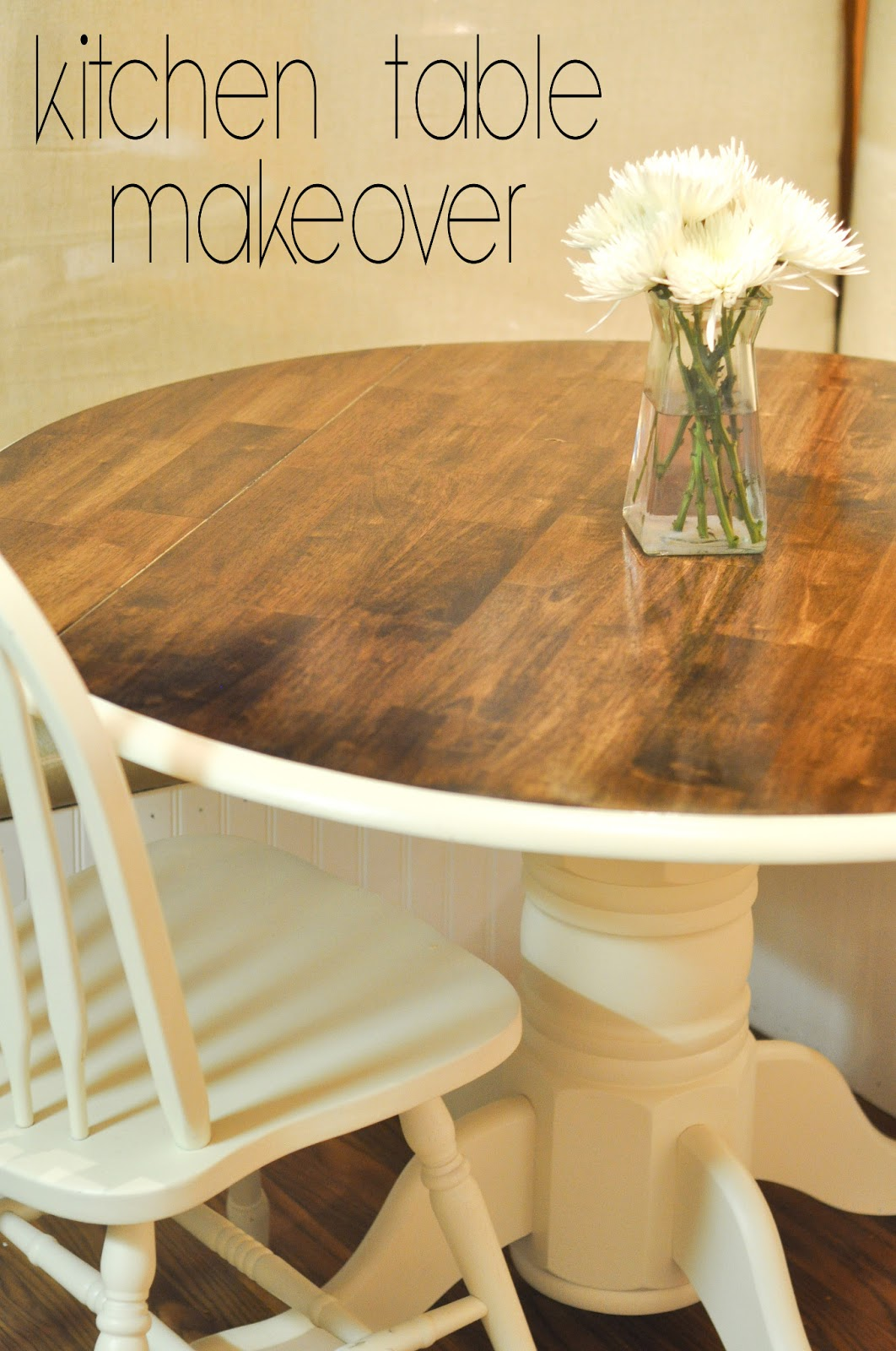 Decorating through dental school kitchen table makeover - Kitchen table redo ...