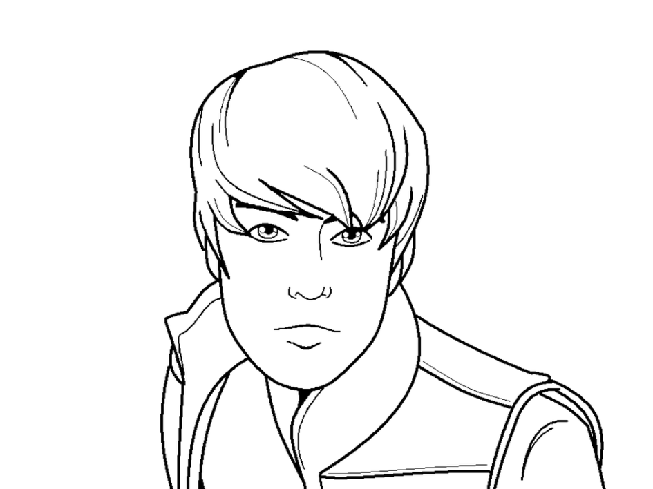 Bieber free coloring pages for Free justin bieber coloring pages