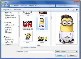 cara mengimport file gambar