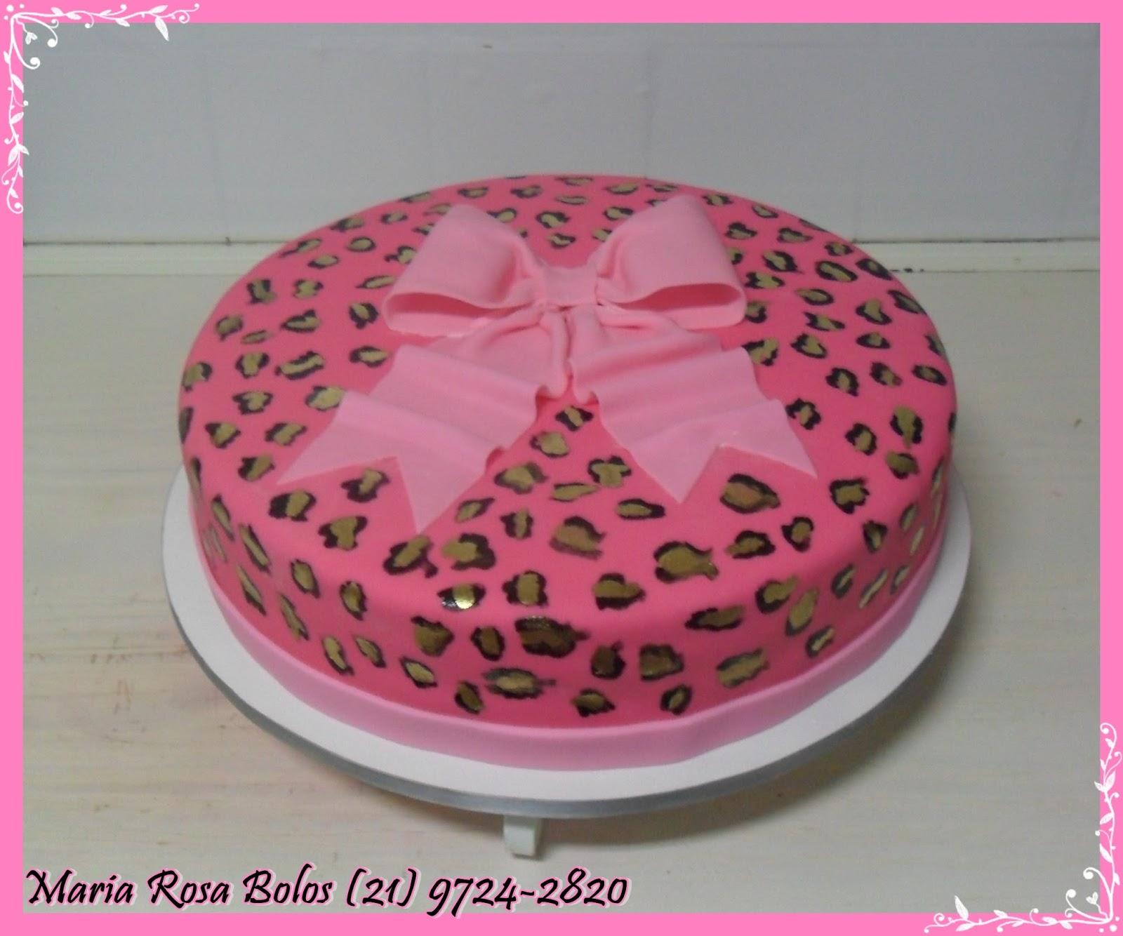 Bolo De Oncinha Pink    La  O Rosa Beb
