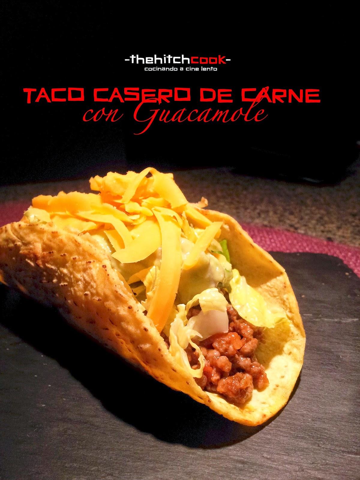 TACO CASERO DE CARNE CON GUACAMOLE
