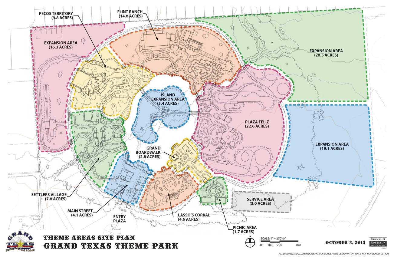 NewsPlusNotes Grand Texas Theme Park Showing Off Plans - Map of us water parks