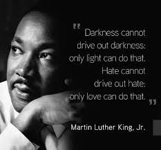 """Hate cannot drive out hate; only love can do that."""