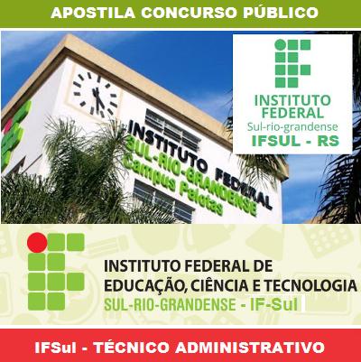 Apostila IFSul Rio-Grandense - Auxiliar de Assuntos Educacionais