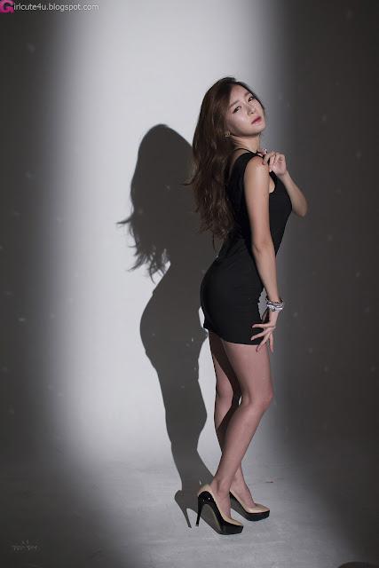 4 Sexy Black - Han Ji Eun - very cute asian girl - girlcute4u.blogspot.com