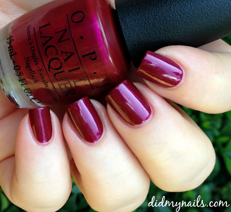 OPI Thank Glogg It's Friday swatch