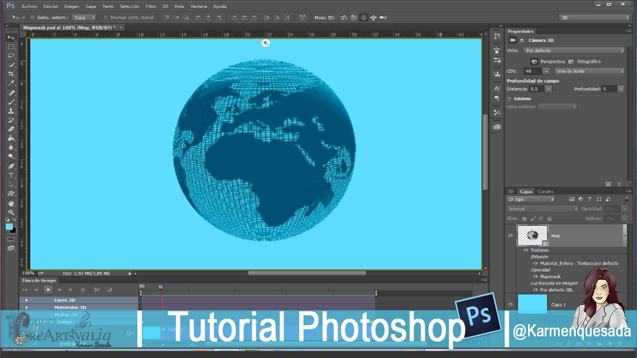 Creartivalia animacin 3d esfera rotando tutorial photoshop cc en este videotutorial vamos a ver como hacer una animacin 3d de una esfera rotando en photoshop cc 2015 cambios con la versin de photoshop cs6 hacen que baditri Image collections