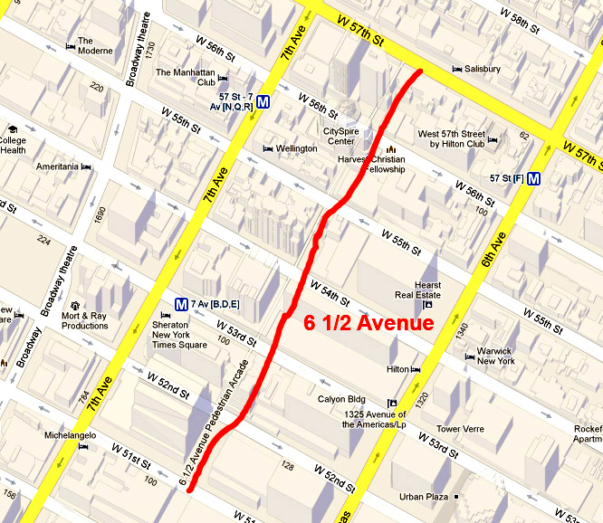 Big Apple Secrets Avenue A New Name On The Map Of New York - Midtown new york map