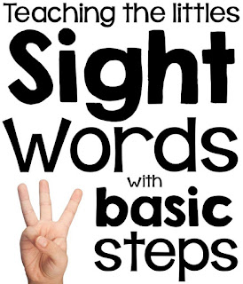 Sight Words in Three Steps from Simply Kinder