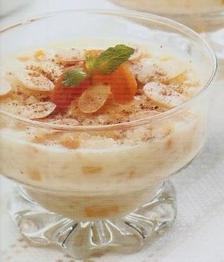 Resep Cara Membuat Apricot Rice Puding