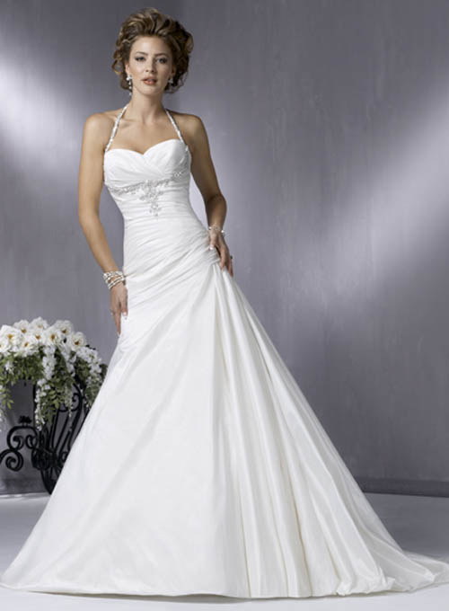 White Wedding Dresses For  : White bridal s dresses designs quot fancy and elegant wedding dress